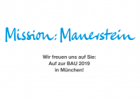 Kalksandstein na veletrhu BAU 2019