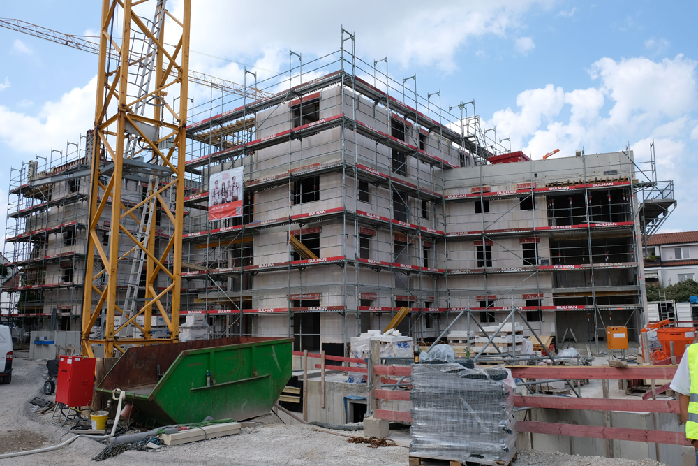 Nárůst počtu stavebních povolení pro bytovou výstavbu v Německu